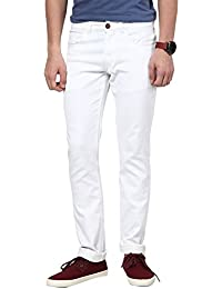 Seasons White Cotton Basics Skinny Fit Jeans With Belts