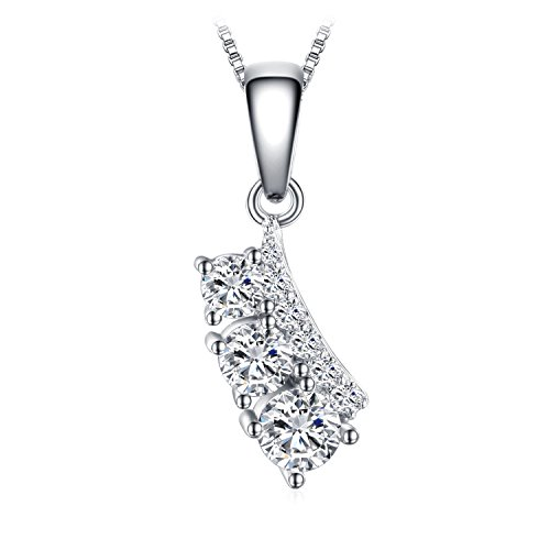 JewelryPalace Individualità 0.7ct Cubic Zirconia Foglia Ciondolo Collana 45cm Argento Sterling 925