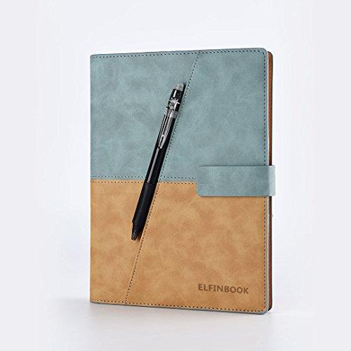 Preisvergleich Produktbild Ruled Notebooks / Zeitschriften Premium Dickes Papier Faux Leder Writing Notebook,  Hardcover,  ausgekleidet,  Smart,  wiederverwendbar,  löschbar (Farbe : Blau)