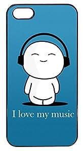 Coque Iphone 5/5S - Petit bonhomme I my love music - Ref 345