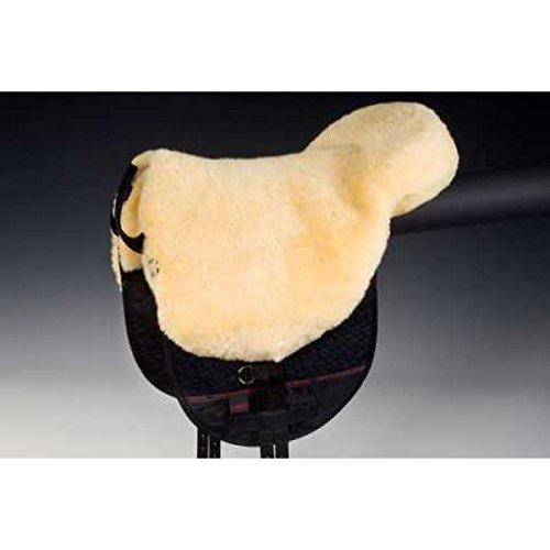 CHRIST Fellsattel Basic Plus baumloser Lammfell-Sattel aus echtem Fell, mit Herausnehmbaren Polstern, Bareback-pad…