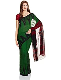 IndusDiva Green Nuapatna Cotton Handloom Saree
