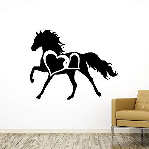 yiyiyaya Neue Pferd Wandbild Abnehmbare Wandtattoo Abnehmbare Vinyl Wandbild Tapete Kunst Aufkleber58 * 73 cm