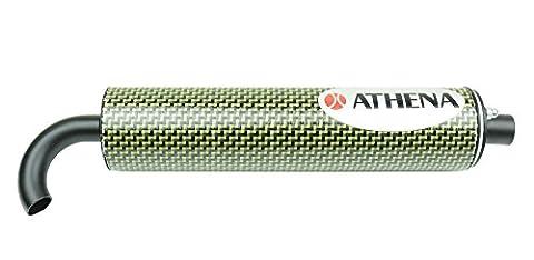 Athena S410000303002 Silencieux Régénérable en Fibre de Carbone, 60 x