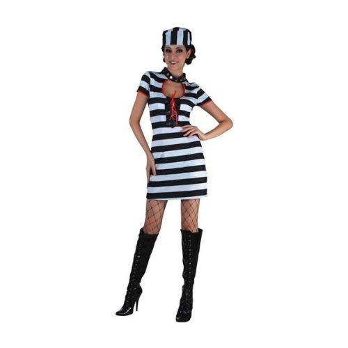 fyasa 706060-t04Sträfling Frau Kostüm, (Sträfling Frau Kostüme)