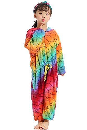 Niños Unisex Unicornio Animales Loungewear Pijamas Ropa de Fiesta Ropa de Dormir Disfraces Cosplay (Escamas de Pescado, 85cm)