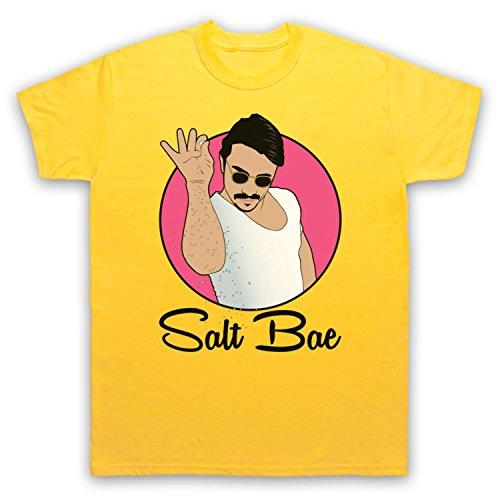 Inspiriert durch Salt Bae Turkish Chef Funny Meme Inoffiziell Herren T-Shirt Gelb