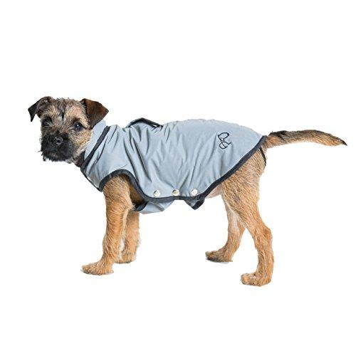 Border & Charle's Mantel Voll reflektierend Charlie für Hunde grau T5Größe XS -