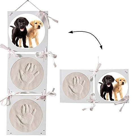 3-D Effekt _ Bastelset - Händeabdruck + Fußabdruck / Pfotenabdruck - z.B. für Katze und Hunde -