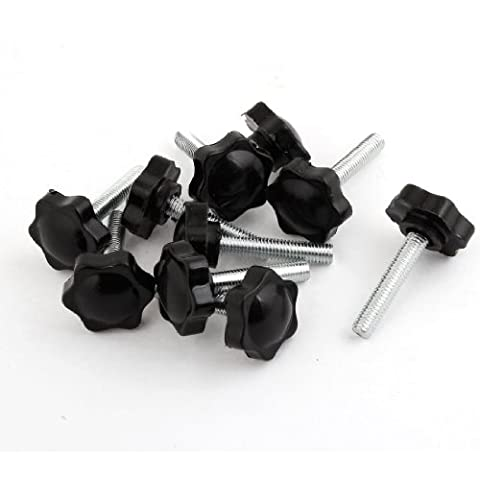 10pcs M8 x 40mm Male Thread 32mm Hex Shaped Head