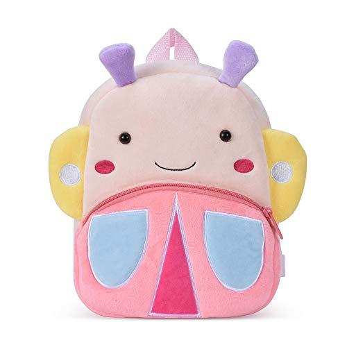 Nette Kleine Kleinkind Kinder Rucksack Plüsch Tier Cartoon Mini Kinder Tasche für Baby Mädchen Junge Alter 1-3 Jahre - Schmetterling