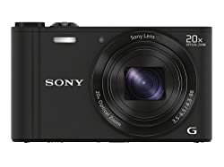 Sony Cyber-shot DSC-WX300/BCE32 18.2MP Point-and-Shoot Digital Camera (Black) with Camera Case