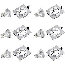 SEBSON® 6x Foco empotrable Tipo 8, incl. GU10 bombilla 3,5W LED
