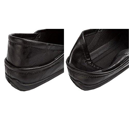 Piatti Foderate Nera Pelliccia Barca Di Pantofole Pantofole Da Mocassini Morbido 2 Uomini Invernali Hzjundasi Scarpe IaqUwC