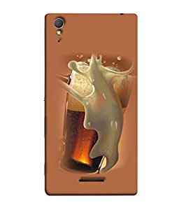 PrintVisa Designer Back Case Cover for Sony Xperia T3 (Fluid Fresh Refreshment Bubble Cold Ice Splash Illustration)
