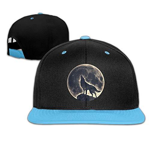 Mond-baseball-jersey (UUOnly Kleinkind-Hip-Hop-Baseballmütze und Hüte Jungen-Mädchen-Mond-Wolf der Jungen)