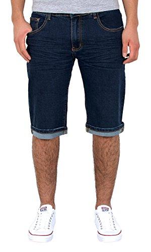 by-tex Herren Shorts kurze Hose Basic Jeans Bermuda Shorts kurze Sommer Hose A380