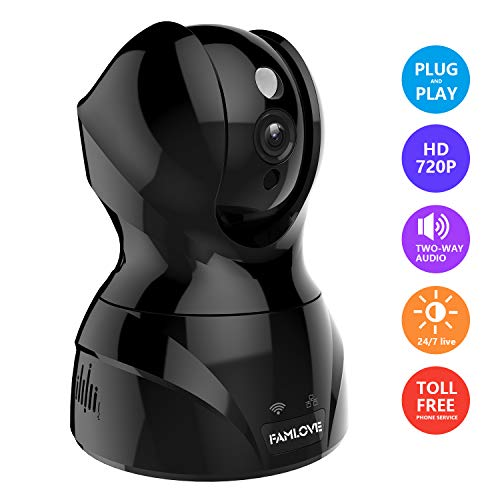 1536P 3MP IP Kamera WLAN Kabellos arbeitet mit Alexa Babyphone Sicherheits Innen-Heimkamera überwachung WiFi PTZ Kamera Gesichtserkennung/SD-Karte/Zwei-Wege-Audio Talk/Nachtsicht /Mipc App