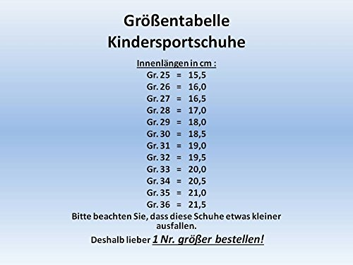 Unbekannt, Sneaker bambini 36 Grigio (grigio)