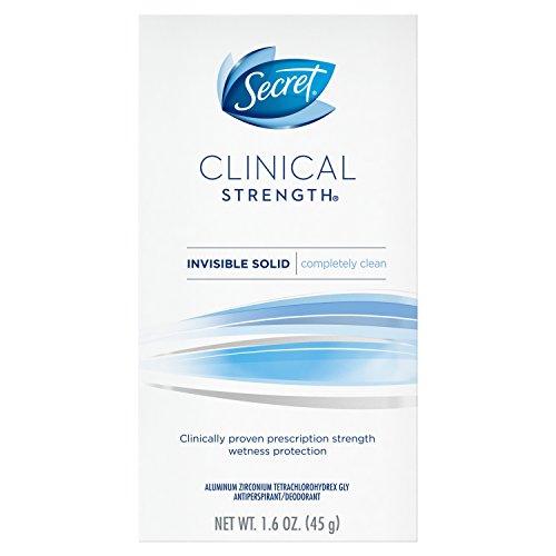 Secret Clinical Strength Invisible Solid Women's Antiperspirant & Deodorant Completely Clean Scent, 1.6 Fluid Ounce by Secret -