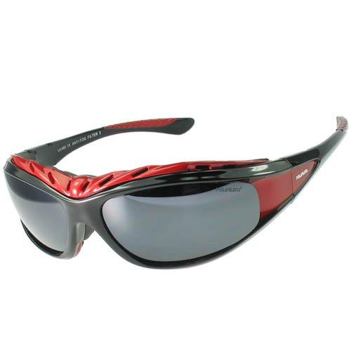 POLARLENS SERIES G7-01 Sonnenbrille / Rad / Kite / Surfbrille mit FLASH-MIRROR-Verspiegelung + Microfaser-Tasche mit Putztuch-Funktion !