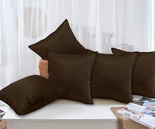 Story@Home Coffee Designer Digital Print 5 Piece Cushion Cover Set