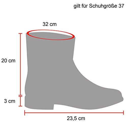Warm Gefütterte Damen Stiefeletten Glitzer Stiefel Schlupfstiefel Boots Schwarz Weiss Knopf