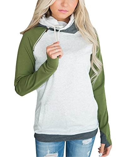 Hoodie Unisex Kapuzenpullover für Damen und Herren mit Kapuze und Känguru Tasche A Grün DE 36 (Ralph Lauren Pullover Rollkragen)