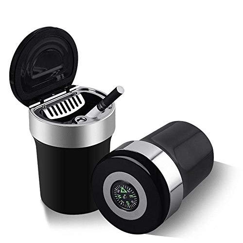 Porta-cigarrillos para sin humo con luz LED azul y Cenicero Automático Portátil...