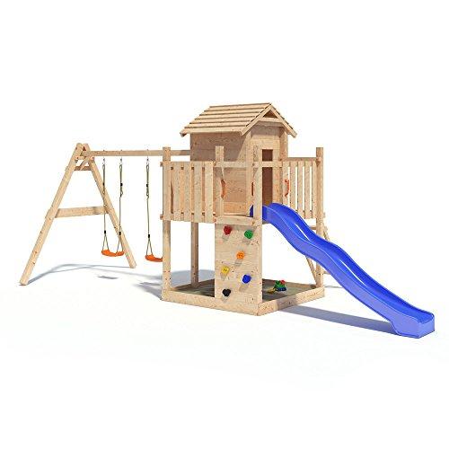 Gigantico Spielturm Kletterturm Baumhaus Rutsche Schaukeln (einfacher Schaukelanbau)