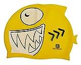 BigHouse Schwimmkappe - Badekappe Silikon in Form Eines Hai - Einheitsgröße (GELB)
