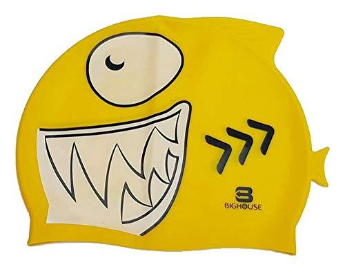 Bighouse cuffia in silicone per piscina a forma di squalo (giallo)