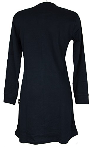 Camicia da notte donna interlock manica lunga scollo serafino HAPPY PEOPLE 3126 Blu
