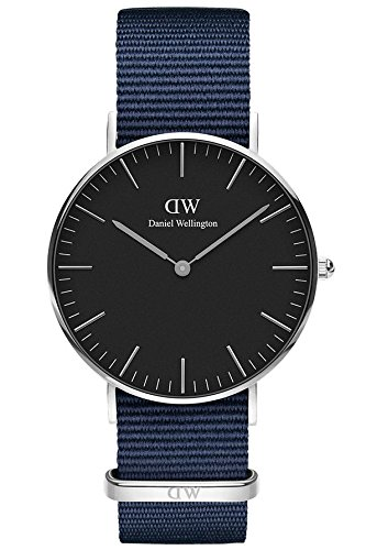 Daniel Wellington Unisex Adult Analogue Quartz Watch with Nylon Strap DW00100282