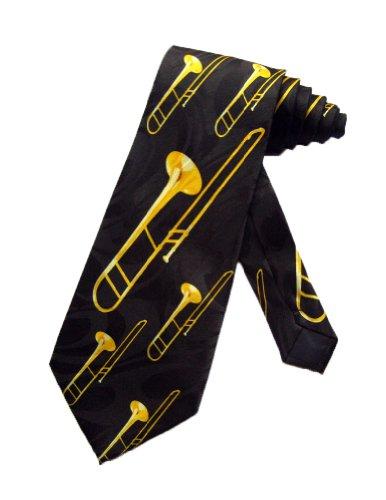Steven Harris Posaune Musik Instrument Krawatte - schwarz - Einheitsgröße