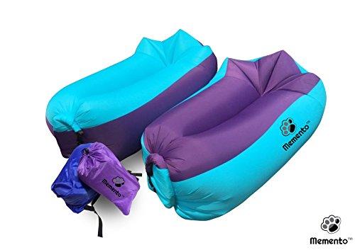 mementotm Original 2nd Generation Air-Liege, aufblasbare Couch/Bett Perfekte zum Entspannen am Strand, Pool, Camping & und den meisten geeignet Innen, während TV.
