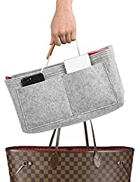 Mercurys Felt Purse Insert Bag Organizer Bag in Bag for Tote & Handbag Purse Organizer Fits Speedy Neverfull(Apricot,M)