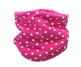 Kinder Loop (dehnbar) Schlauchschal Kinderschal'Sterne' Pink (1-8 Jahre) - Fleecefarbe Pink