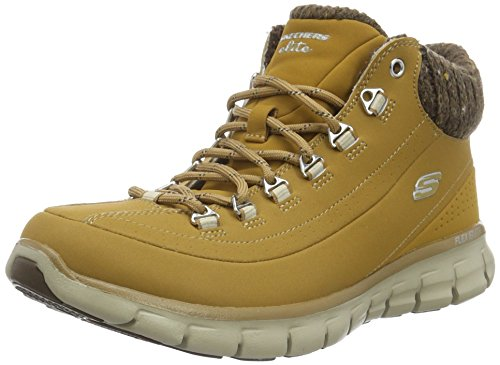 Skechers Damen Synergy Winter Nights Kurzschaft Stiefel, Braun (WTN), 39 EU (Stiefel Skechers Leder Fashion)