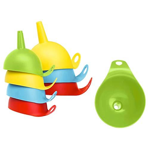 Trichter, 2er Set, verschiedene Farben, Größen: Durchmesser 9 cm, Höhe 11 cm und Durchmesser 12 cm, Höhe 14 cm, Material: Polypropylen, Kunststoff