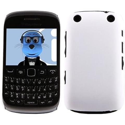 iTALKonline BlackBerry 9315 Curve BIANCO Difficile Saluto dura della cassa della pelle Soft Grip Slim