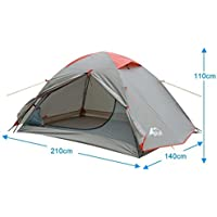 BFULL Camping Tent, Portable Folding Waterproof Outdoor Tent for Hiking Climbing Dome Durable Camping for 1-3 Persons