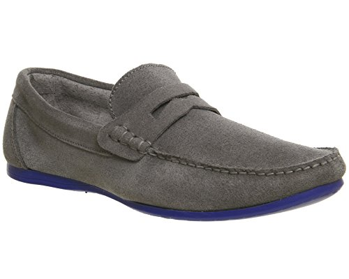 Ask The Missus, Sneaker uomo Grey Suede Blue Sole