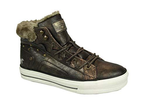 MUSTANG 1288-603 Schuhe Damen Schnür Booty High Top, Schuhgröße:40 EU, Farbe:Braun