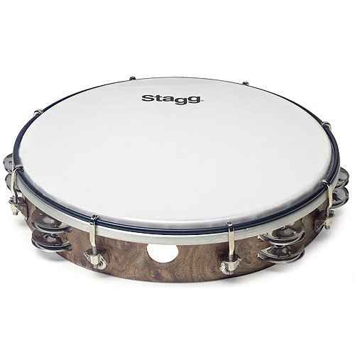 Stagg 25012831 TAB-212P/WD 2RW JG/PLST Wood Tambourine 30,48 cm (12 Zoll)