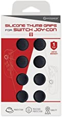 Hyperkin Silicone Thumb Grips for Nintendo Switch Joy-Con (Neo Black, Pack of 8)