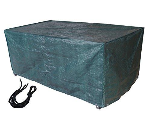 Laxllent - Funda protectora para mesa de jardín rectangular, impermeable, transpirable, polipropileno, cubierta para muebles al aire libre, para mesas cuadradas de jardín, sofá, cama de día, sillas, verde, 170 x 95 x 70 cm