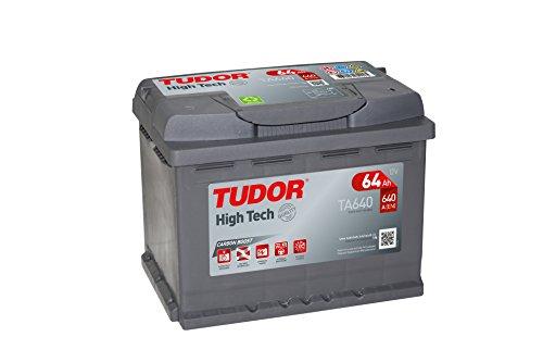 Tudor Exide High-Tech-Batteria per auto, 64 Ah, 12 V, 242 x 175 x 190 cm-Morsetto a dest