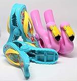 Strandtuch Clips Boca Stil - Zwei Paar Flip Flops und Flamingo