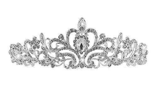 Boda Cristal Tiara brillantes Corona Pelo joyas Comunión pelo maduro